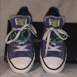Converse All Stars Double Tongue Purple Women's